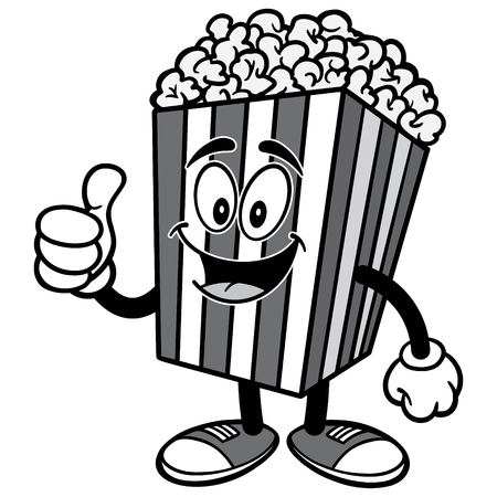 Popcorn with Thumbs Up Illustration