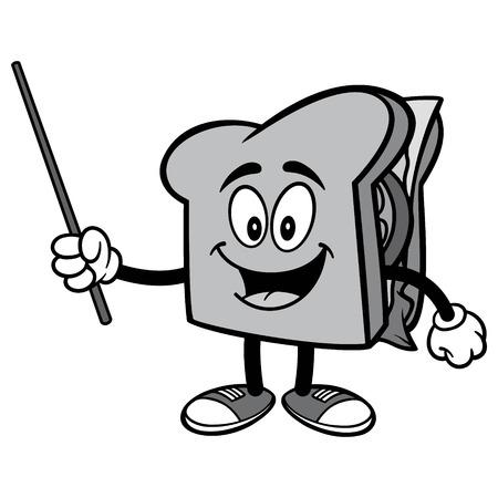 ポインターの図とサンドイッチ