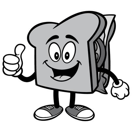 Sandwich with Thumbs Up Illustration
