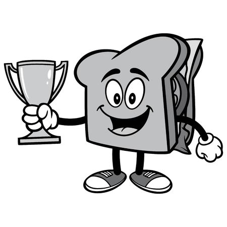Sandwich with Trophy Illustration