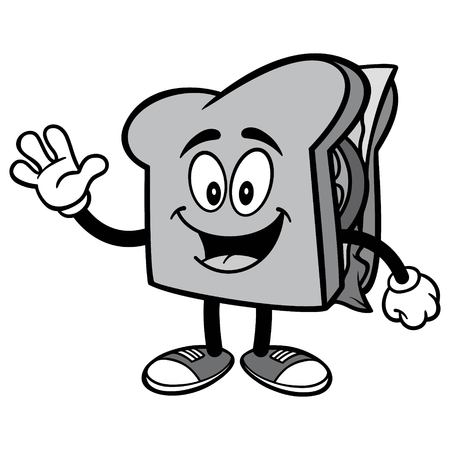 Sandwich Waving Illustration