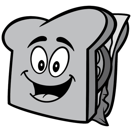 Sandwich Mascot Illustration