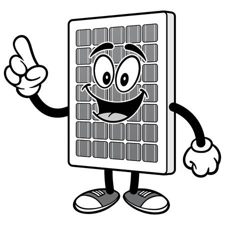 태양 전지 패널 일러스트레이션