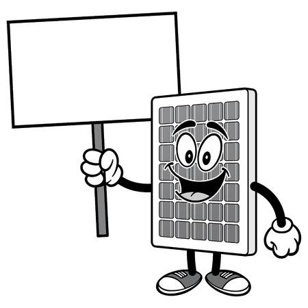 로그인 일러스트와 함께 태양 전지 패널 일러스트