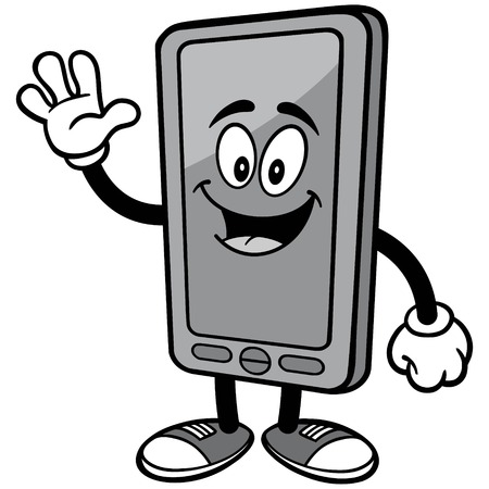Smartphone Waving Illustration