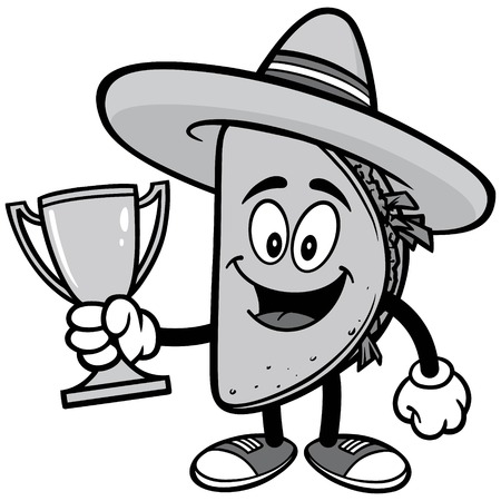 Taco with Trophy Illustration Illustration