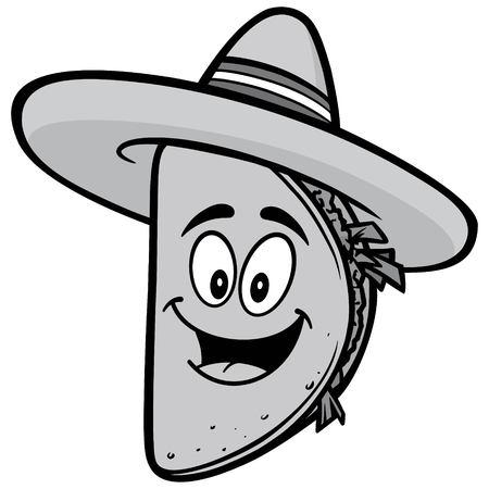 Taco Mascot Illustration Banco de Imagens - 85328147