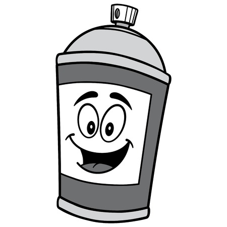 Spray Can Mascot Illustration