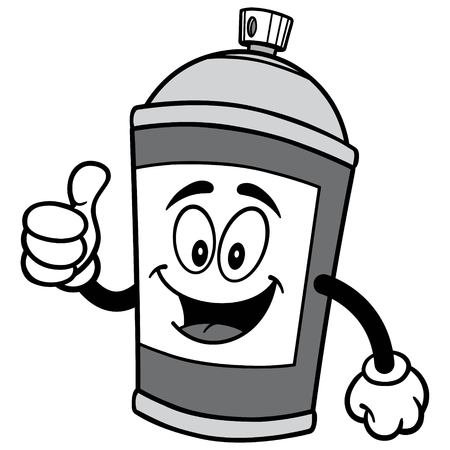 Spray Can with Thumbs Up Illustration