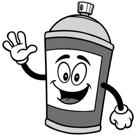 Spray Can Waving Illustration
