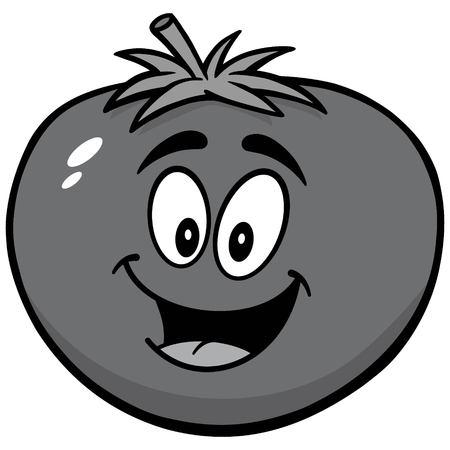 Tomato Mascot Illustration