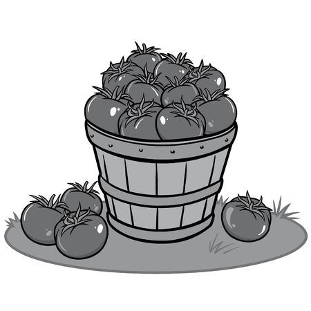 Tomato Sale Illustration