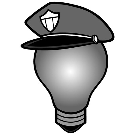 Police Bulb Illustration. Ilustrace