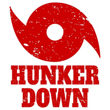 Hunker Down illustration.
