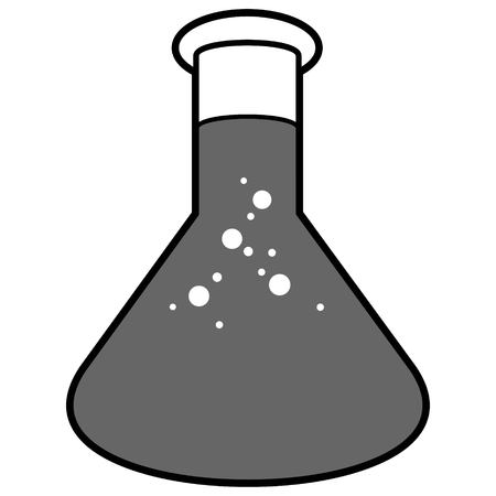 Chemistry Flask Illustration