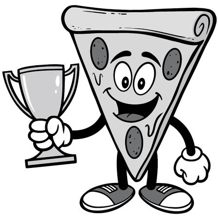 Pizza with Trophy Illustration
