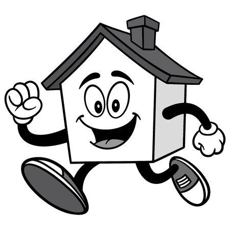 House Running Illustration