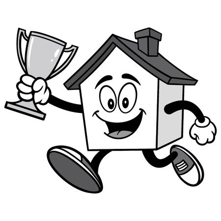 House Running with Trophy