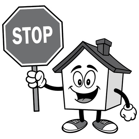 House with Stop Sign