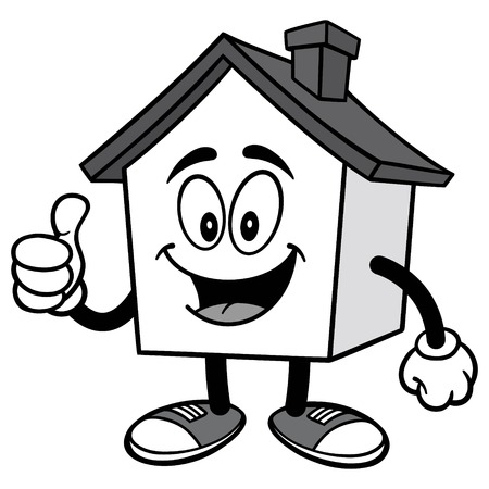 House with Thumbs Up