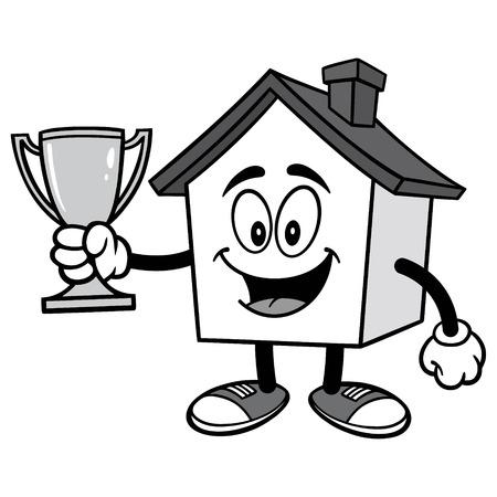 House with Trophy Ilustração