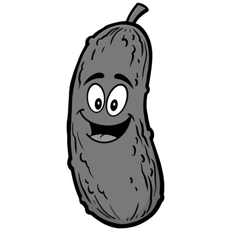 Pickle Mascot Illustration