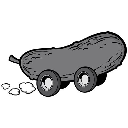 Pickle Race Illustration