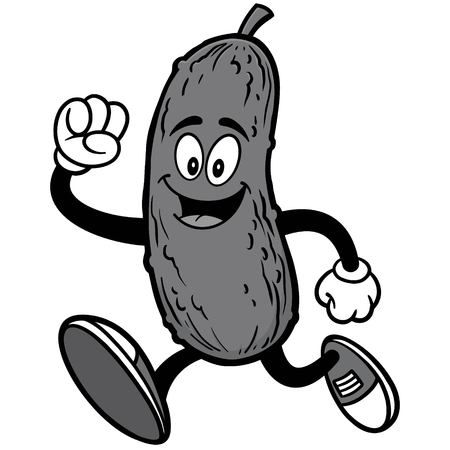 Pickle Running Illustration Фото со стока - 87266620