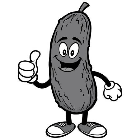 Pickle with Thumbs Up Illustration