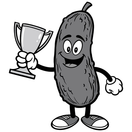 Pickle with Trophy Illustration