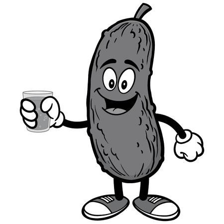 Pickle with Water Illustration Ilustração