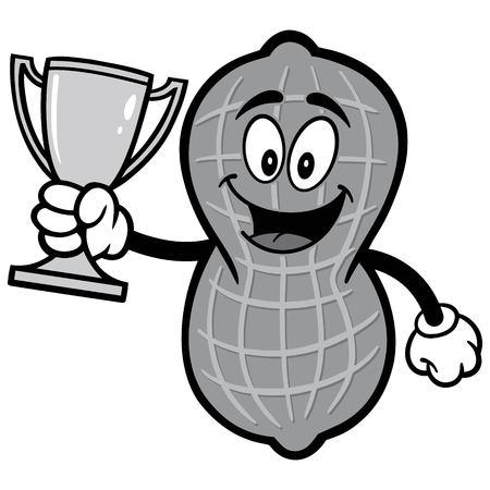 Peanut with trophy illustration Illustration