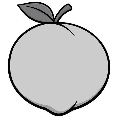 Peach Icon Illustration Иллюстрация
