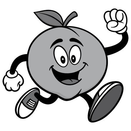 Peach Running Illustration Ilustracja