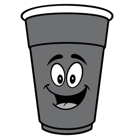 Party Cup Mascot Illustration.