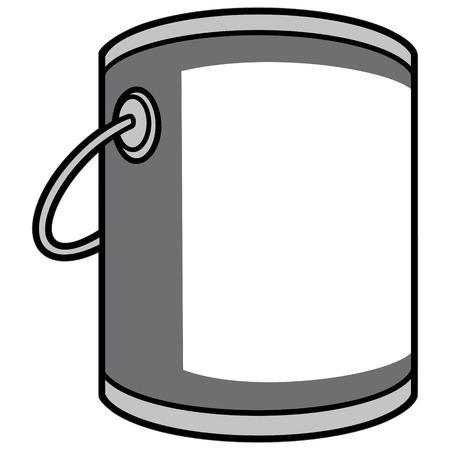 ペイント バケツの図  イラスト・ベクター素材