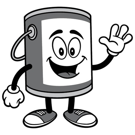 Paint Bucket Waving Illustration