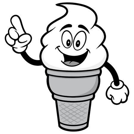 Ice Cream Talking Illustration Çizim