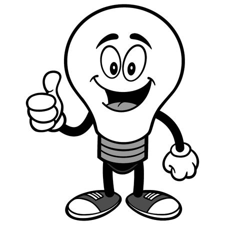 Light Bulb with Thumbs Up Illustration