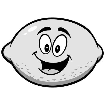 Lemon Mascot Illustration