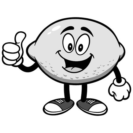 Lemon with Thumbs Up Illustration