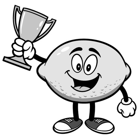 Lemon with Trophy Illustration