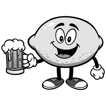 Lemon with Beer Illustration