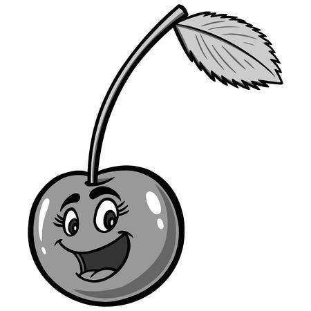 Cherry Cartoon Illustration Иллюстрация