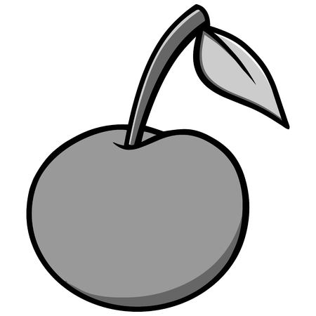 Cherry Icon Illustration