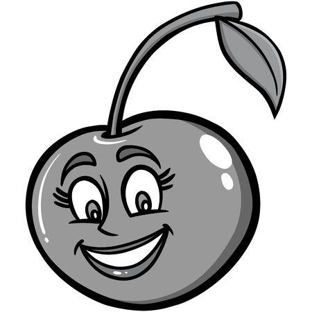 Cherry Mascot Illustration Ilustração