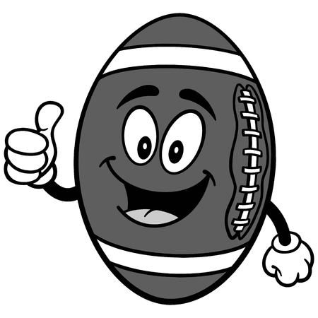 Football Mascot with Thumbs Up Illustration Ilustrace