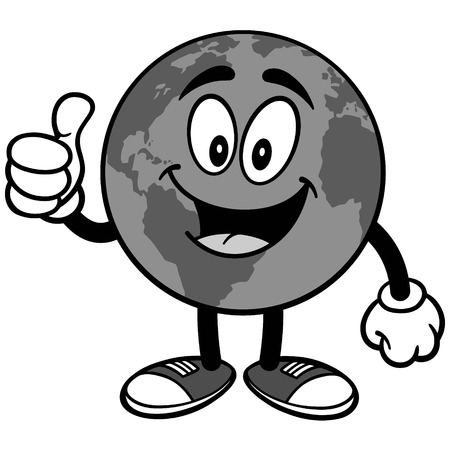 Earth with Thumbs Up Illustration