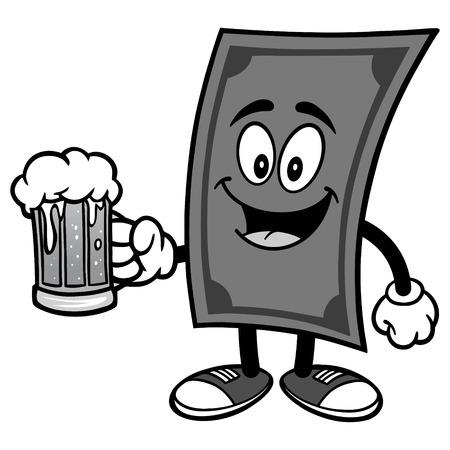 ビール イラスト ドル