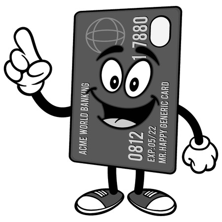 Credit Card Talking Illustration